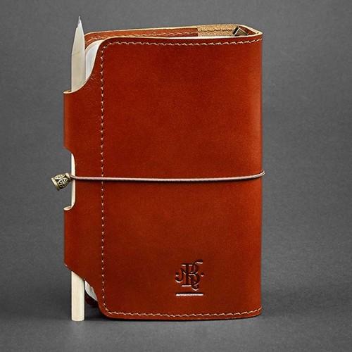 Кожаный софтбук 3.0 Коньяк-4