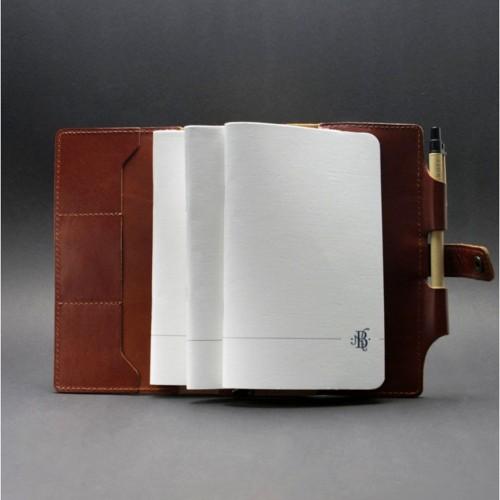 Кожаный софтбук 4.0 Коньяк-4