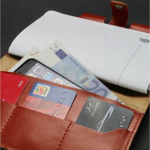 Кожаный софтбук 4.0 Коньяк-3