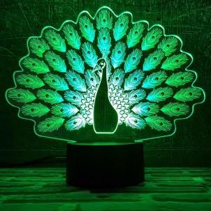 """3D светильник """"Павлин""""-1"""