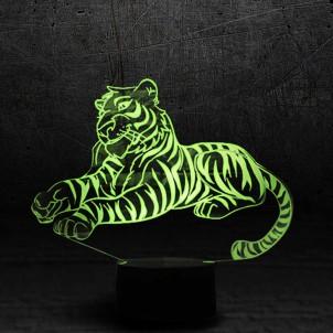 "3D светильник ""Тигр""-1"