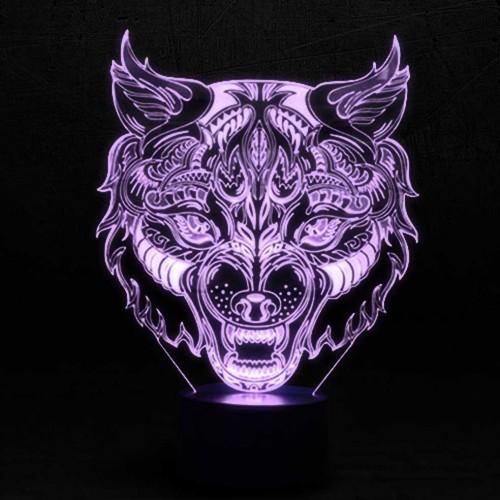 """3D светильник """"Волк Арт""""-1"""