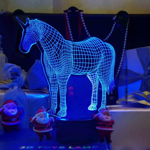 """3D светильник """"Единорог""""-1"""
