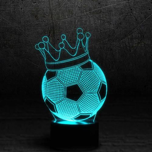 """3D светильник """"Футбольный мяч в короне""""-1"""