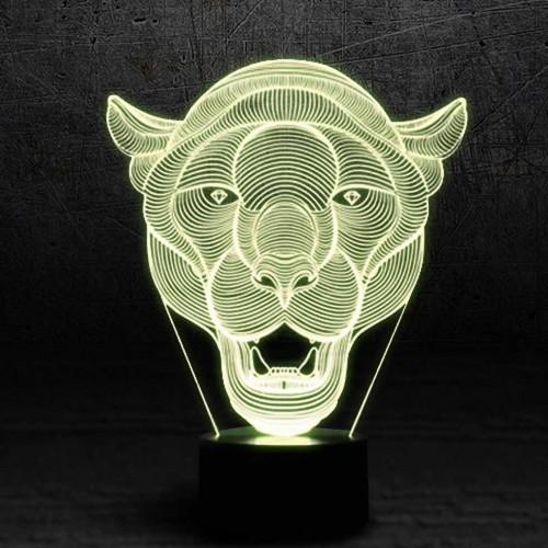 """3D светильник - ночник """"Пума"""""""