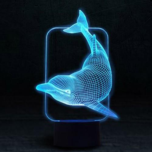 """3D светильник """"Дельфин""""-2"""