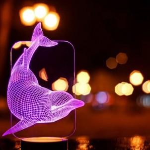 """3D светильник """"Дельфин""""-1"""