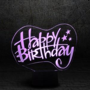"""3D светильник """"Happy birthday""""-1"""