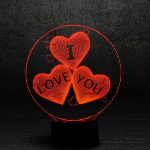"3D светильник ""I love you""-1"