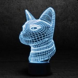 """3D светильник """"Кошка""""-1"""