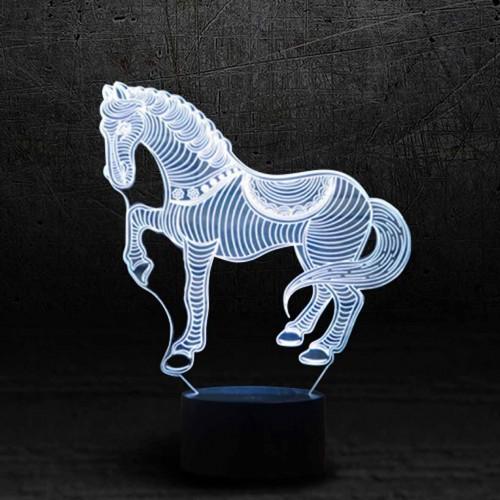 """3D светильник """"Лошадка""""-1"""