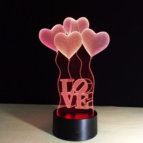 "3D светильник ""Шары I Love you""-1"