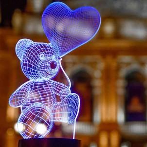 """3D светильник """"Мишка с шариком""""-1"""