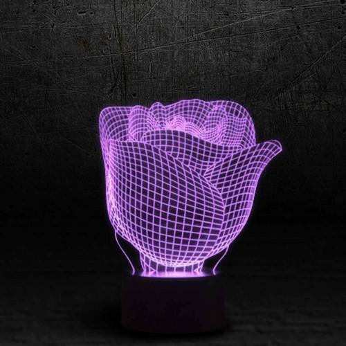 "3D светильник ""Роза""-1"