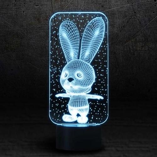"""3D светильник """"Зая""""-1"""