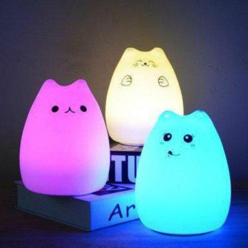 """Сенсорный силиконовый ночник-игрушка """"Веселый котенок с лапками""""-3"""