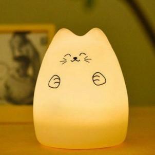 """Сенсорный силиконовый ночник-игрушка """"Веселый котенок с лапками""""-1"""