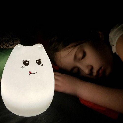 """Сенсорный силиконовый ночник-игрушка """"Веселый котенок с язычком""""-3"""