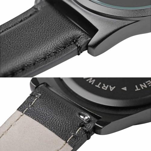 """Набор """"Часы 6 seconds + кожаный ремешок"""" Белые BW-8"""