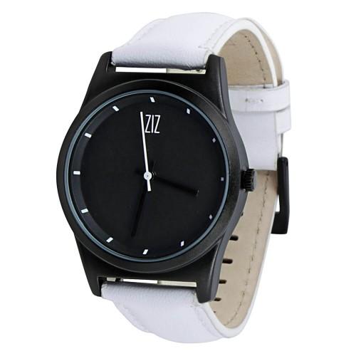 """Набор """"Часы 6 seconds + кожаный ремешок"""" Черные WB-5"""