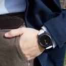 """Набор """"Часы 6 seconds + кожаный ремешок"""" Черные WB-3"""