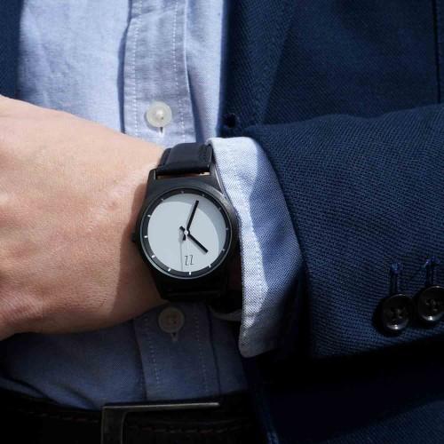 """Набор """"Часы 6 seconds + кожаный ремешок"""" Белые BW-3"""