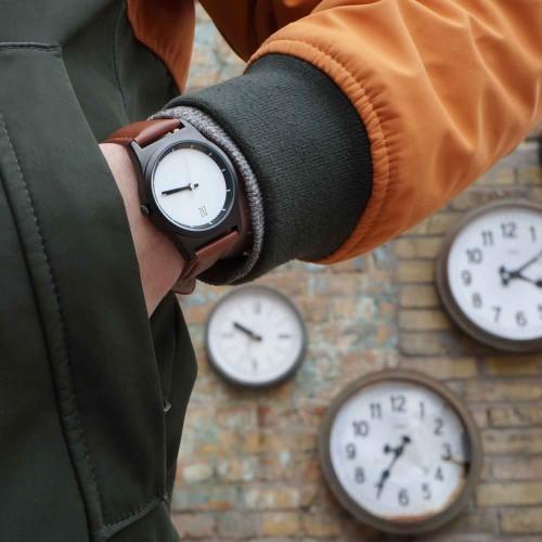 """Набор """"Часы 6 seconds + кожаный ремешок"""" Белые RW-7"""