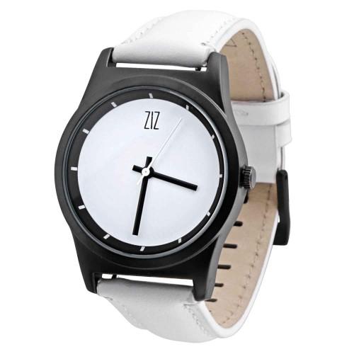 """Набор """"Часы 6 seconds + кожаный ремешок"""" Белые WB-4"""