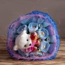 """Букет из конфет и влюбленного мишки """"Love is""""-4"""