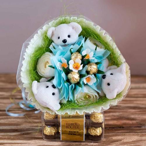 """Букет из игрушек и конфет """"Весенний""""-1"""