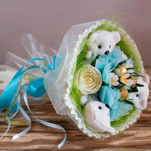 """Букет из игрушек и конфет """"Весенний""""-4"""