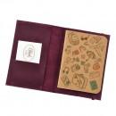 Кожаная обложка на паспорт 1.0 Виноград-3