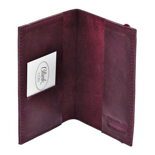 Кожаная обложка на паспорт 1.0 Виноград-2