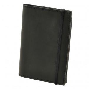 Кожаная обложка на паспорт 2.0 Графит и блокнотик-1