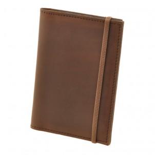 Кожаная обложка на паспорт 2.0 Орех и блокнотик-1