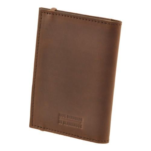 Кожаная обложка на паспорт 2.0 Орех и блокнотик-2