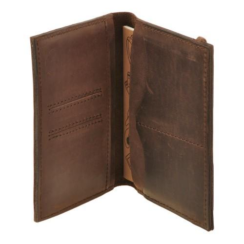 Кожаная обложка на паспорт 2.0 Орех и блокнотик-6