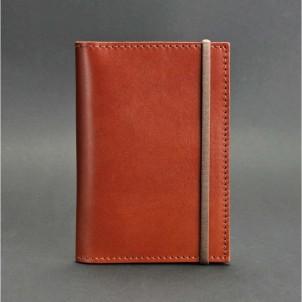 Кожаная обложка на паспорт 2.0 Коньяк и блокнотик-1