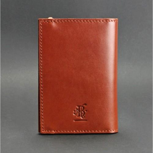 Кожаная обложка на паспорт 2.0 Коньяк и блокнотик-2