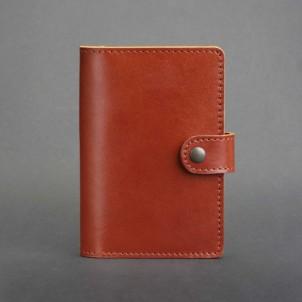 Кожаная обложка на паспорт 3.0 Коньяк-1
