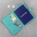 Кожаная обложка на паспорт 3.0 Тиффани-2