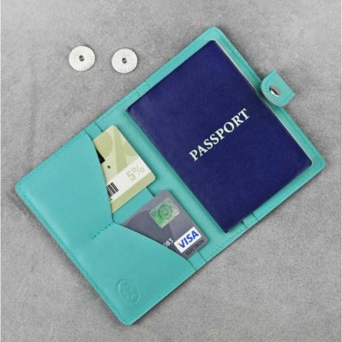 Кожаная обложка на паспорт 3.0 Тиффани-4
