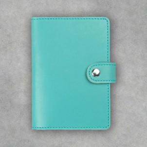 Кожаная обложка на паспорт 3.0 Тиффани-1