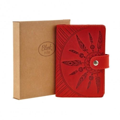"Кожаная обложка на паспорт ""Инди"" Коралл-7"