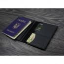 "Кожаная обложка на паспорт ""Карбон"" 2.0 Графит-6"
