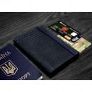 "Кожаная обложка на паспорт ""Карбон"" 2.0 Ночное небо-4"