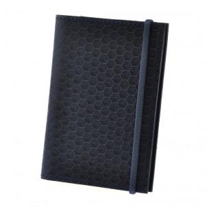 "Кожаная обложка на паспорт ""Карбон"" 2.0 Ночное небо-1"