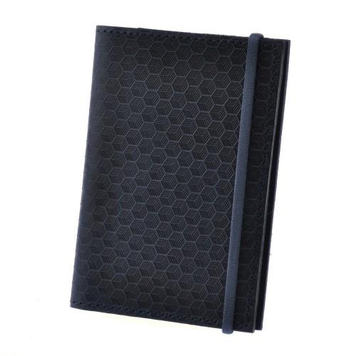 "Кожаная обложка на паспорт ""Карбон"" 2.0 Ночное небо"
