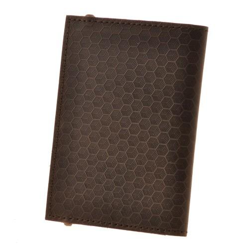"Кожаная обложка на паспорт ""Карбон"" 2.0 Орех-3"
