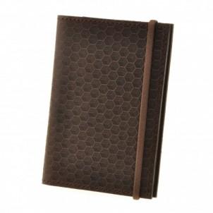 "Кожаная обложка на паспорт ""Карбон"" 2.0 Орех-1"